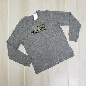 Vans Girls New Shirt Med Leopard Logo L/S